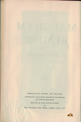 The Maugham Reader - title verso