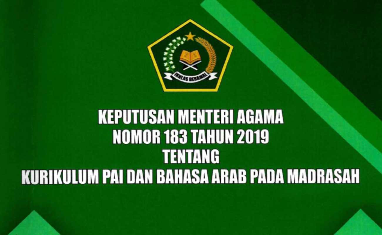 KMA 183 Tahun 2019 Kurikulum Madrasah PAI Bahasa Arab