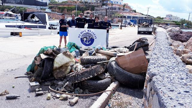 500 κιλά απορρίμματα έβγαλε από το βυθό του Αγκιστρίου η ομάδα εθελοντών δυτών «WE DIVE WE CLEAN»