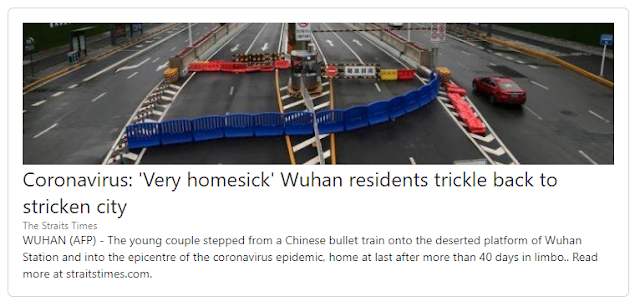 Wuhan residents trickle back after lock down