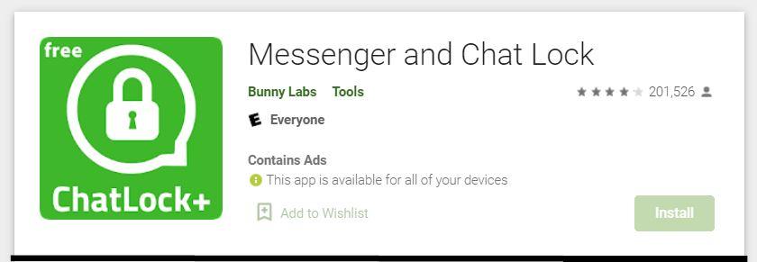 aplikasi messenger and chatlock plus