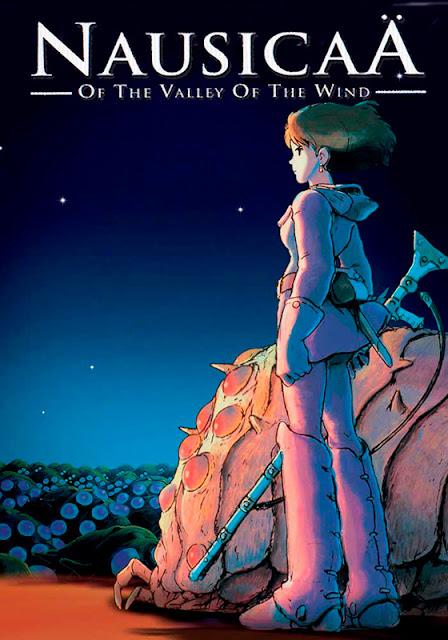Cartel de la película de animación de Studio Ghibli dirigida por Hayao Miyazaki, Nausicaä del Valle del Viento