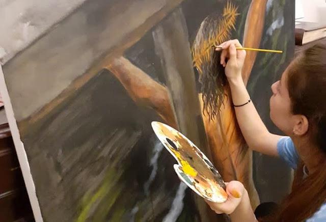 Μέρες κορωνοϊού: 13χρονη από το Ναύπλιο εκπλήσσει με το ταλέντο της στη ζωγραφική