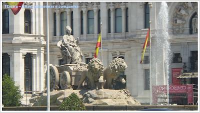 Madrid; Viagem Europa; Turismo na Espanha; Praça de Cibeles
