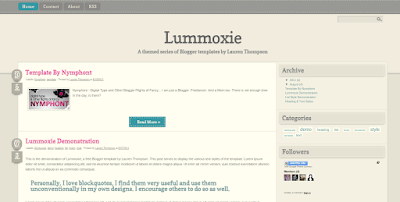 Lummoxie blogger template