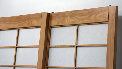 Shoji kumiko closeup.