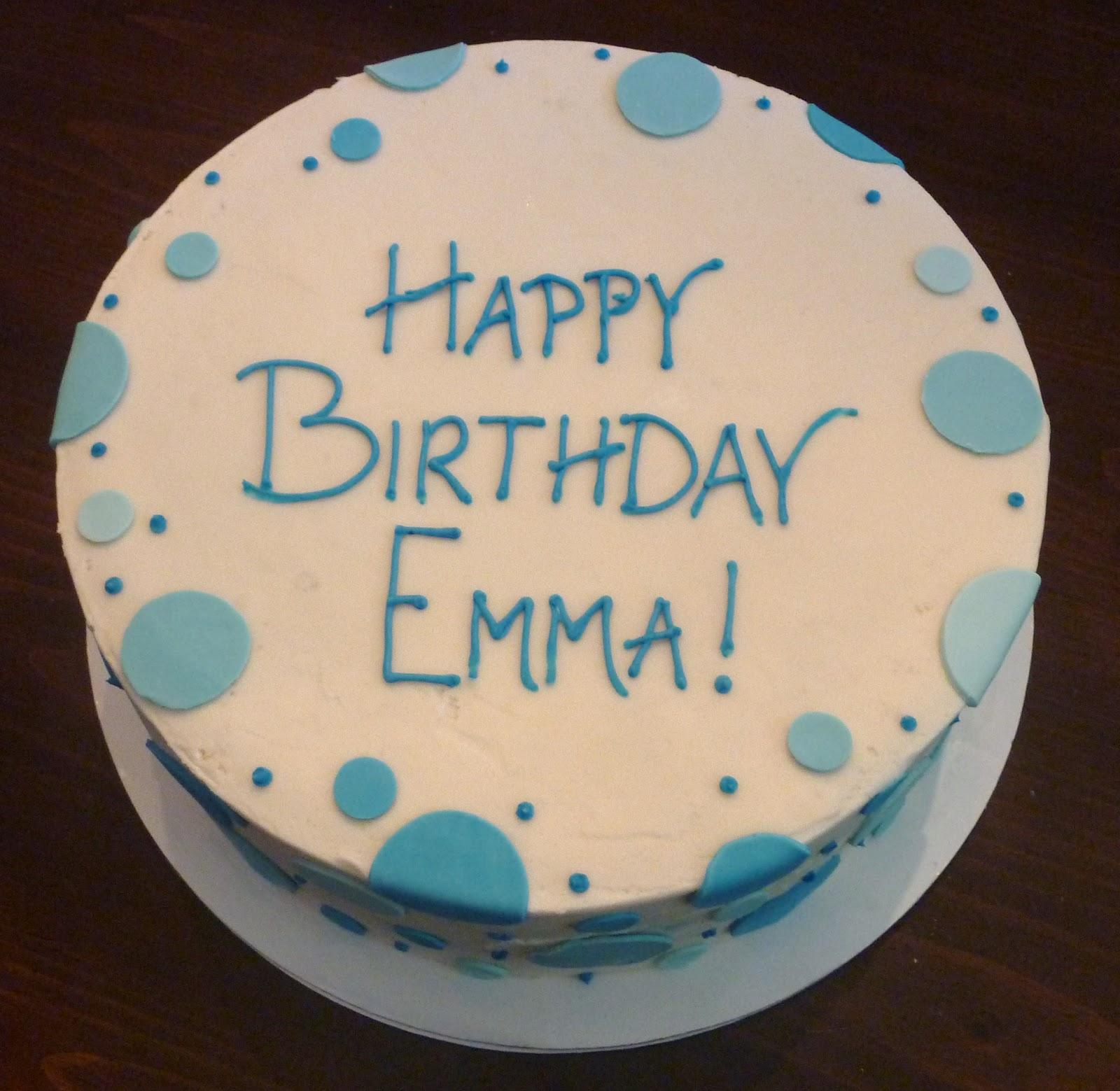 Creative Crumbs Nashville: Blue Polka Dot Birthday Cake