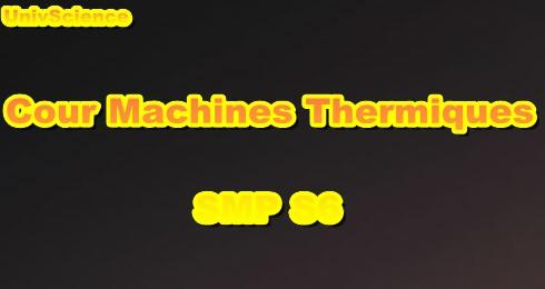 Cours Machines Thermiques SMP S6 PDF