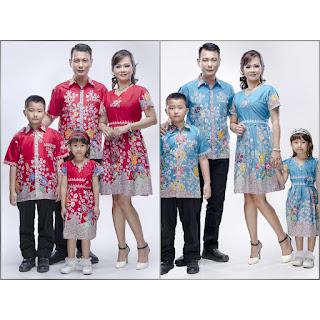 Batik Couple Sarimbit Keluarga Dres Silvy Bunga HQ