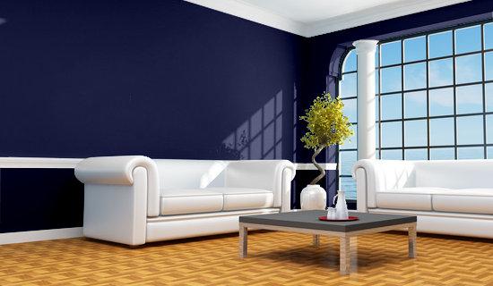Decoracion actual de moda paredes azul marino - Colores de pinturas para paredes de salon ...