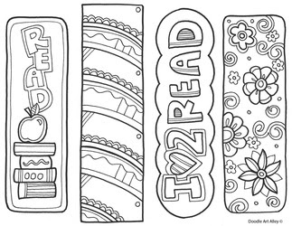 coloring pages of bookmarks - photo#23