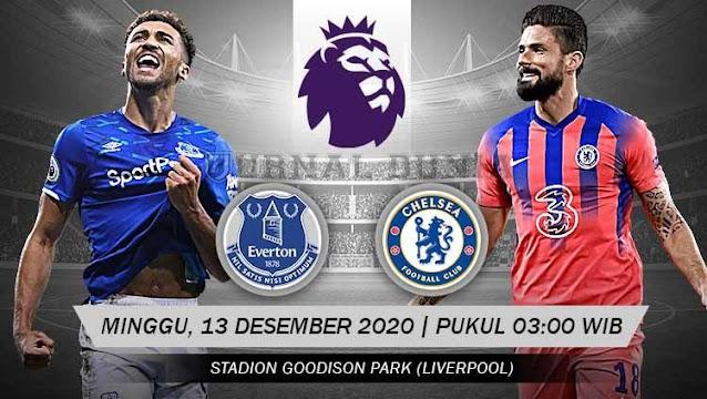 Prediksi Everton Vs Chelsea, Minggu 13 Desember 2020 Pukul 03.00 WIB @ Mola TV