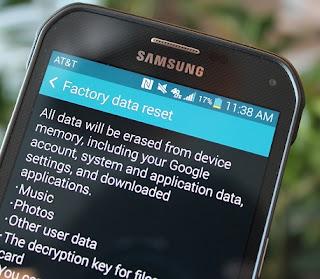 Factory Reset Samsung