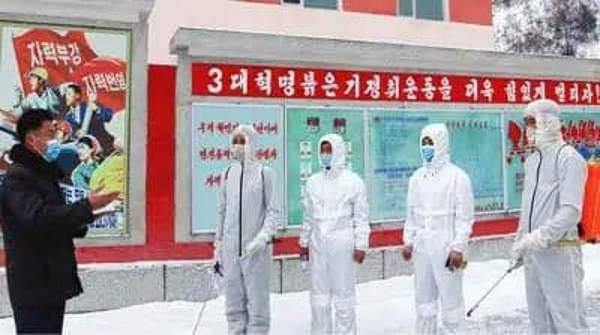 Emergency anti-epidemic work at Kanggye Livestock Farm