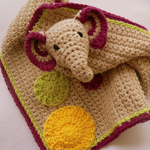 Grace the Crochet Elephant Comfort Blanket - Free Pattern