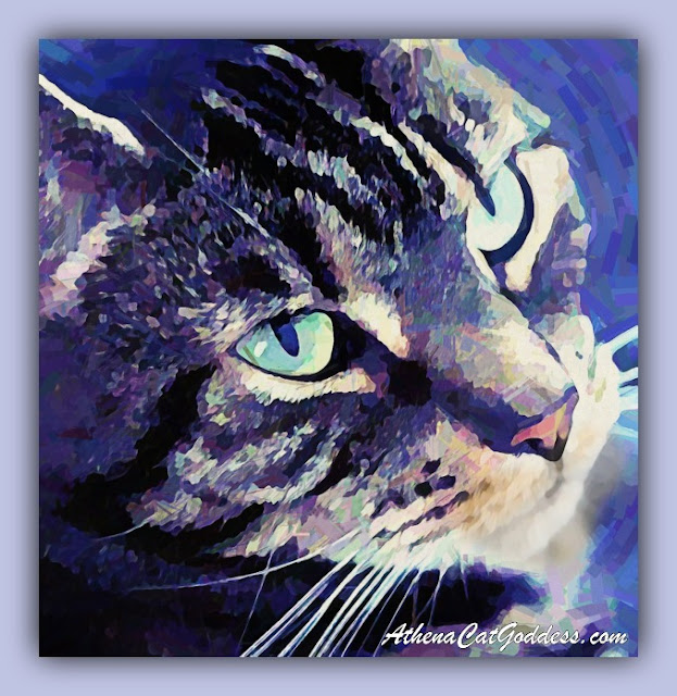 cat art Impressionist style