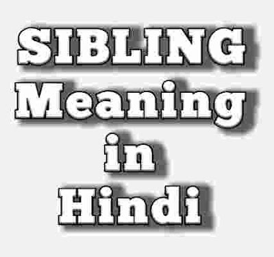 Sibling meaning in Hindi.