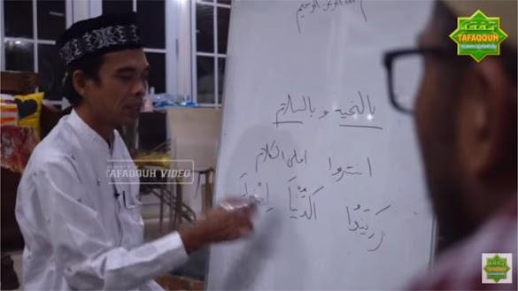 Ustadz Somad Jelaskan Makna 'Zainuddin Yahtirom' pada Lagu Deen As-Salam