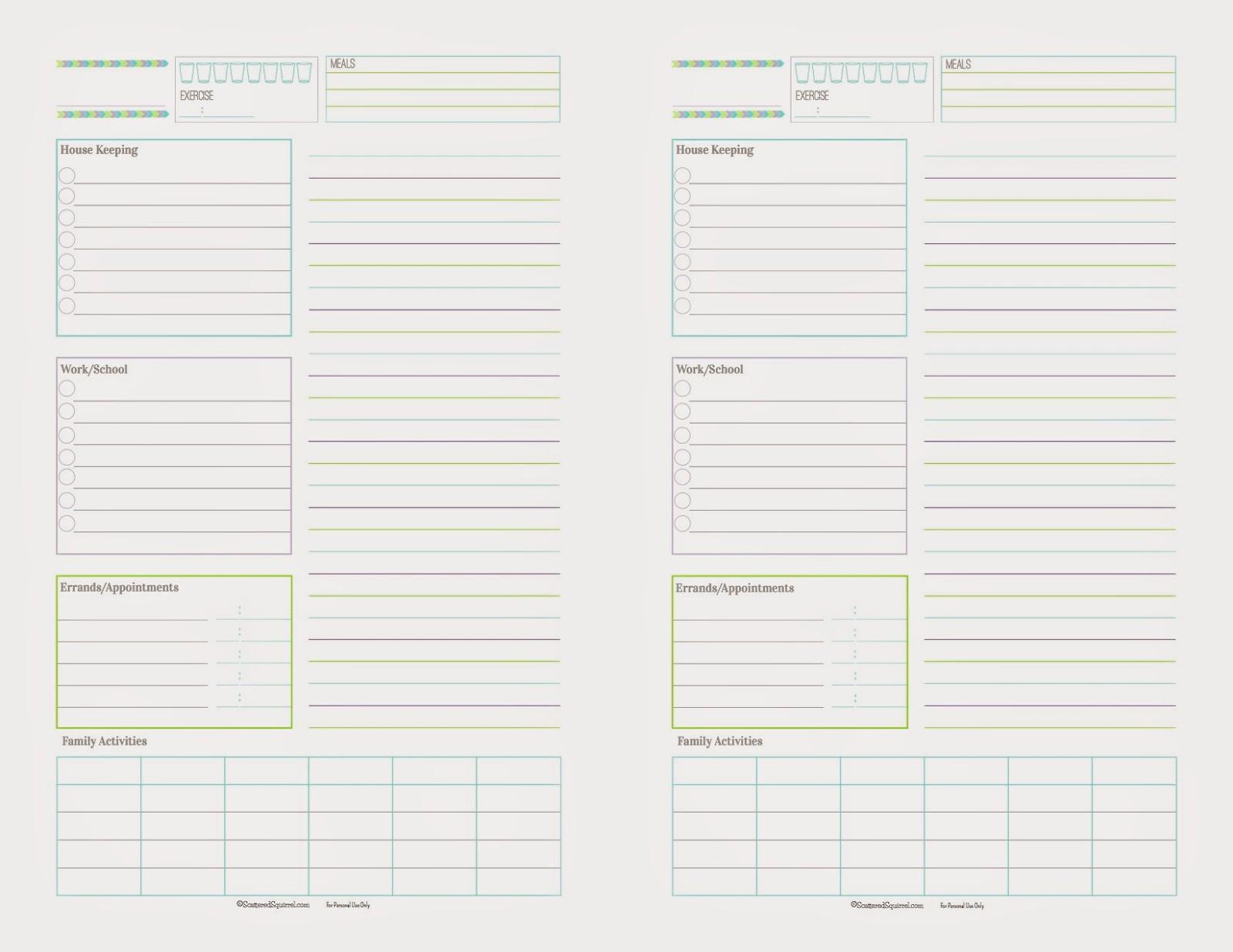 Beloved Bijou's Craft Blog: DIY Daily Planner Pages