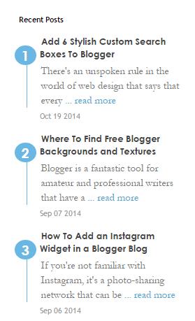 Blogger Son Paylaşımlar Tasarımı 3