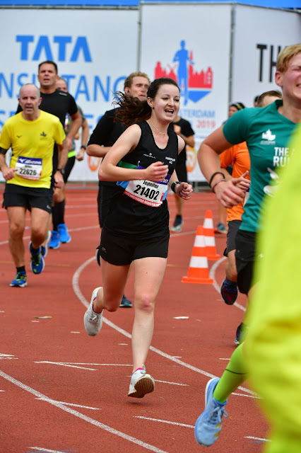 Finish of Amsterdam Half Marathon 2019