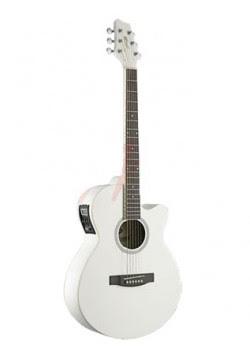 Giá cây Đàn guitar Acoustic Stagg SW206CETU-WH là 3,6 triệu đồng