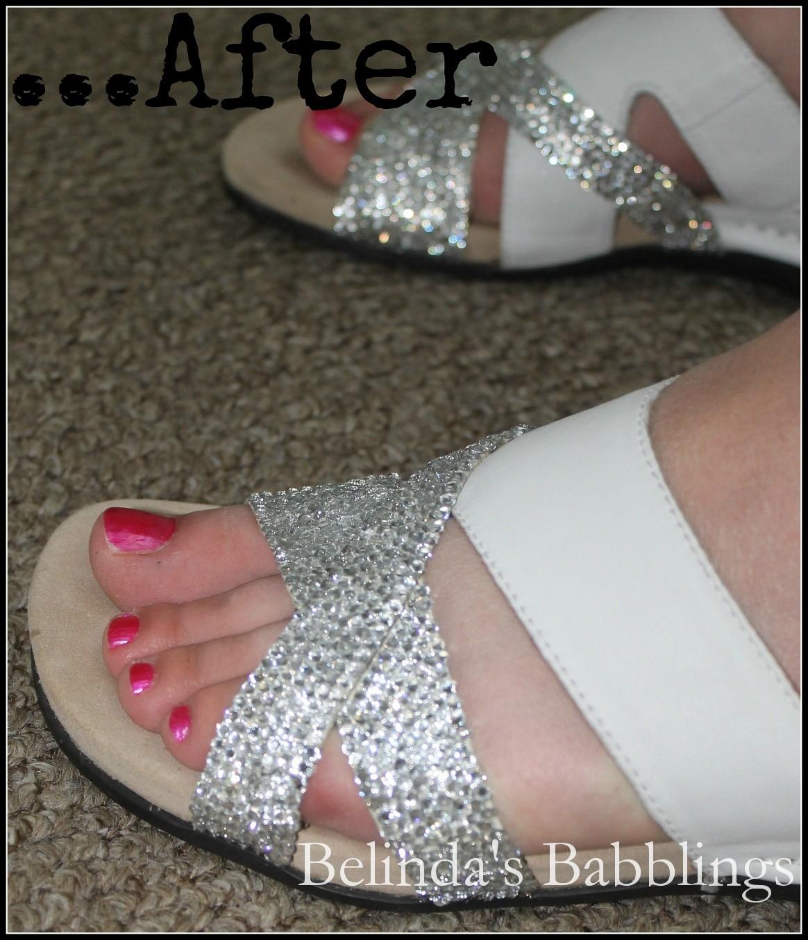 Belinda's Babblings: My DIY Rhinestone Sandals