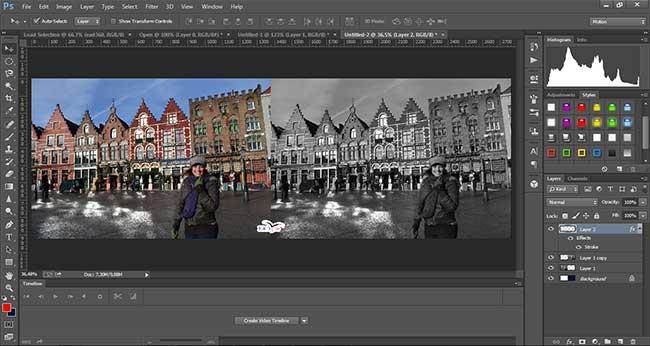 Como converter foto pra Preto e Branco