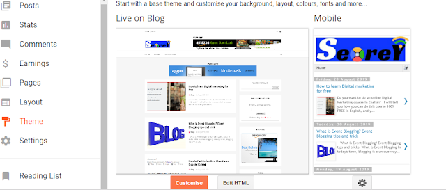 Complete information about editing Blogger Template
