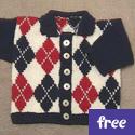 Argyle Baby Cardigan (free)