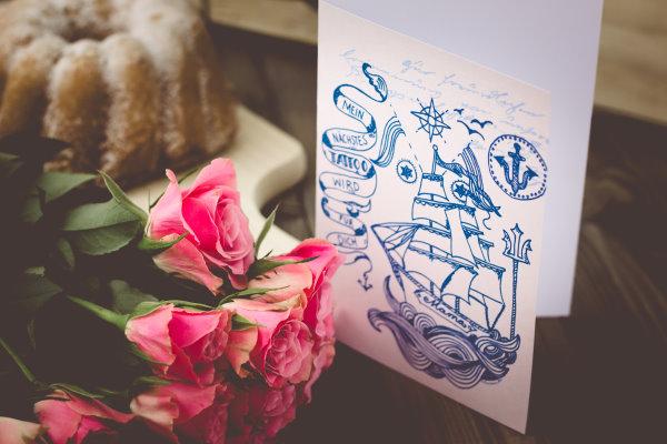 Segelschiff Mama zum Ausdrucken zum Muttertag