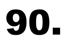 neunzigste