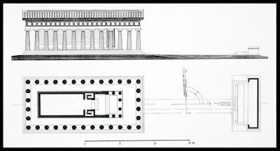 Planta templo atenea en paestum