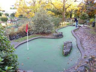 Adventure Golf course at Victoria Park in Bath