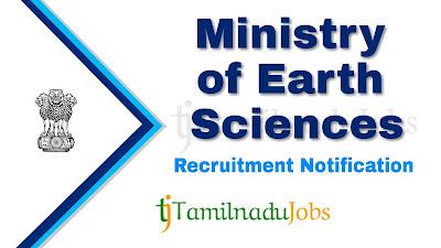 MOES Recruitment notification 2019, MOES Recruitment 2019, govt jobs for m.sc, govt jobs for m.tech