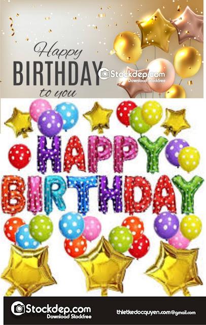 glossy happy birthday  free stock