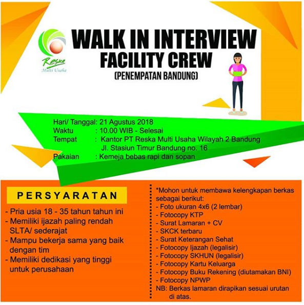 Recruitment Terbaru PT Reska Multi Usaha Tingkat SLTA Sederajat [Walk in inteview]