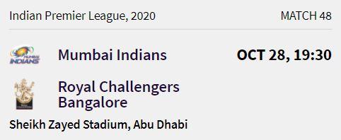 Mumbai Indians match 12 ipl 2020