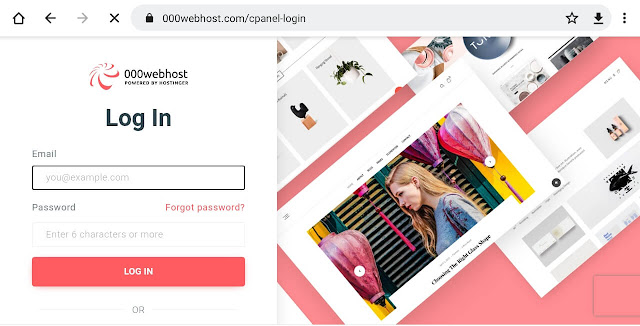 000webhost cpanel login