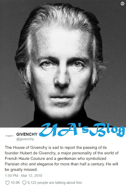 Fashion World Mourns As Legendary Designer, Givenchy Dies At 91