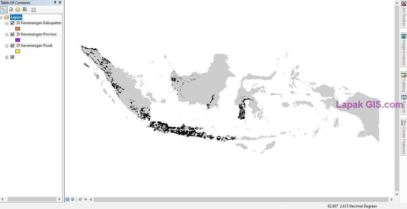 Shapefile Peta Daerah Irigasi Seluruh Indonesia