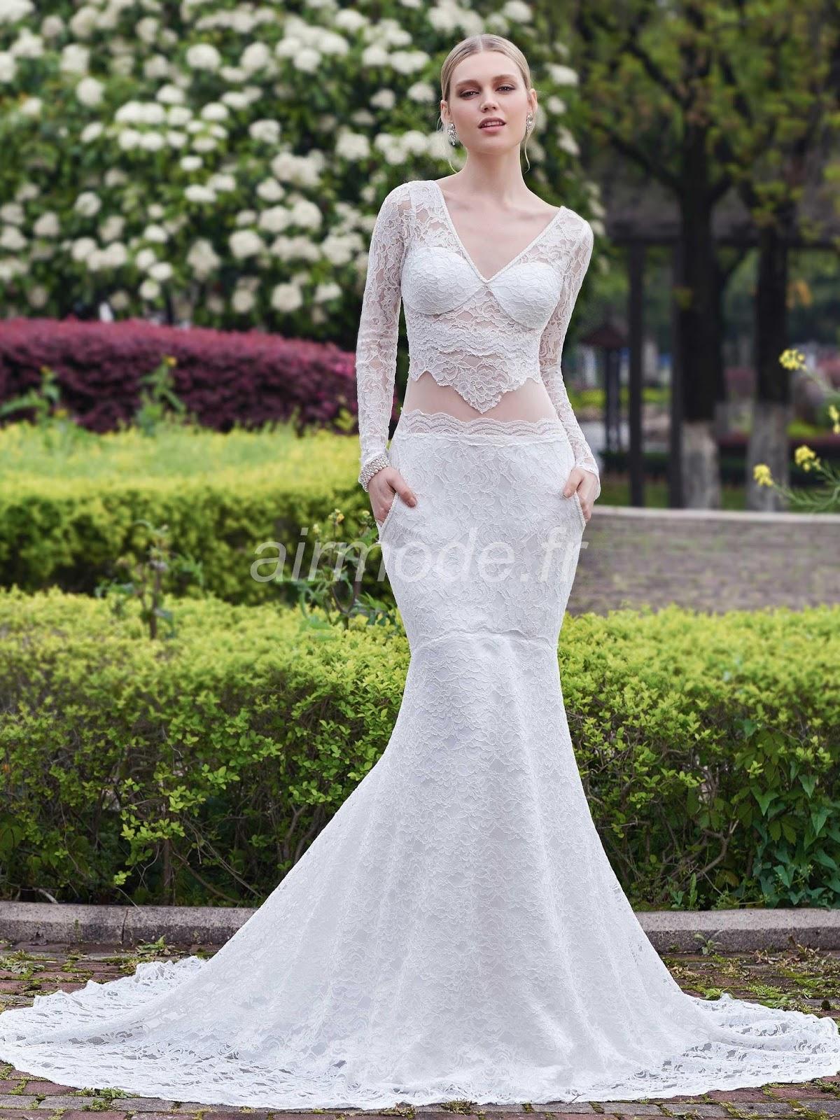 hollow printemps Été automne hiver chaud, sexy et la robe de mariée de sablier chapelle