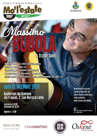 """Con """"Mo l'estate"""" arriva un artista cult. A San Marco in Lamis Massimo Bubola"""