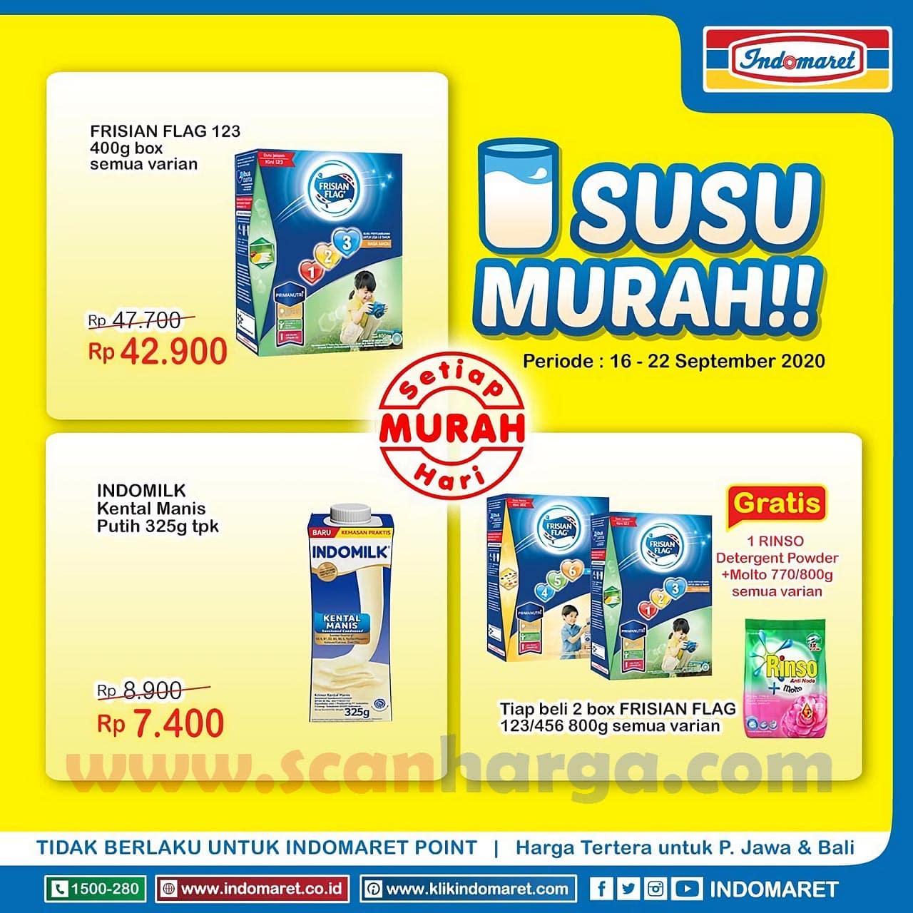 Katalog Promo Indomaret Heboh Susu Murah 16 - 22 September 2020
