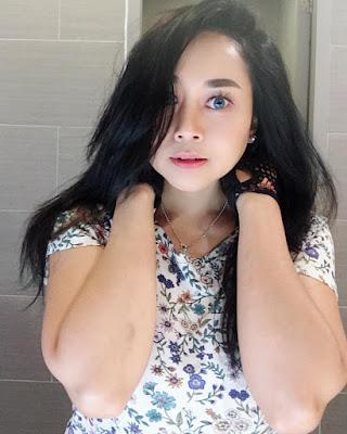 Model Sarah Ardhelia Ferreti wajah chubby manis