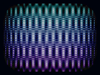 The noise pattern that I saw on an old analog television.