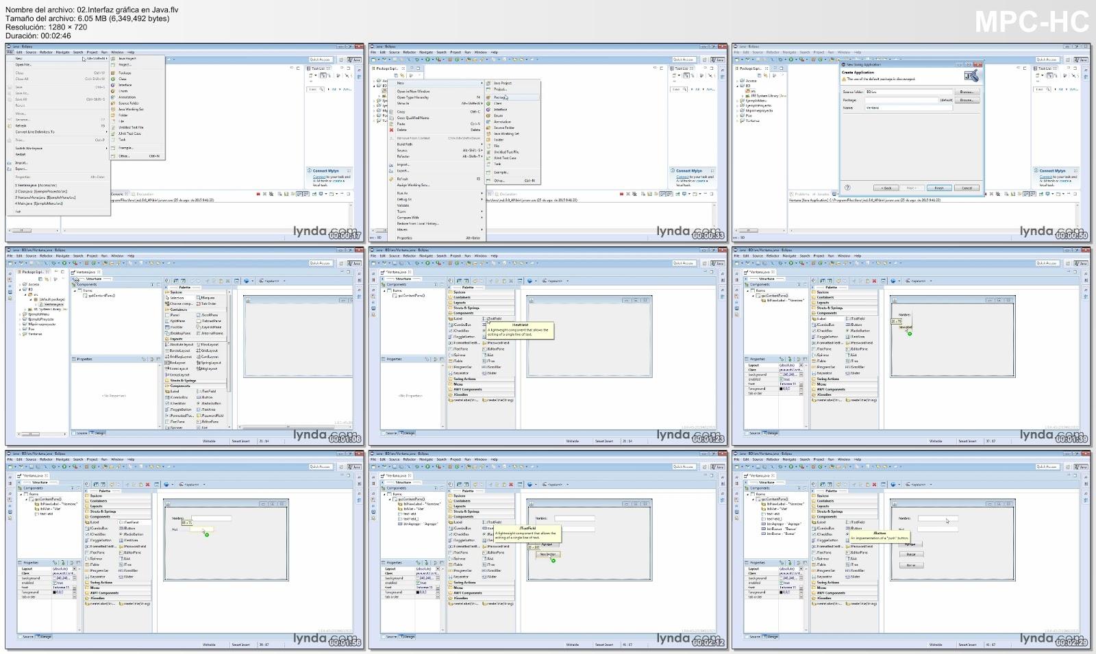 Captura interfaz gráfica en Java