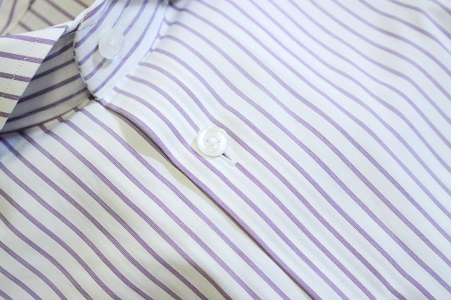 tailor lamb review, tailor lamb shirts, tailor lamb blog review, tailor lamb reviews, tailor lamb made shirts, custom shirts tailor lamb, tailor lamb shirt, Albini Lavender Stripes Poplin , tailorlamb shirts