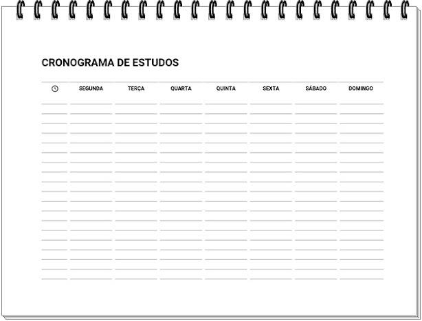 Cronograma de Estudos para Imprimir Gratuitamente (2021)