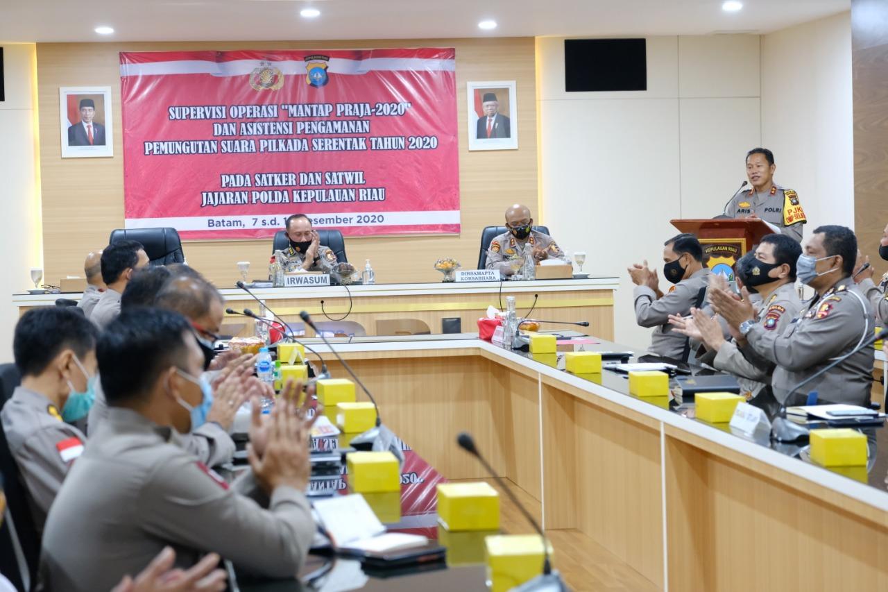 Irwasum Polri Kunjungi Polda Kepri Untuk Supervisi OPS Mantap Praja 2020 dan Asistensi Pengamanan Pemungutan Suara Pemilihan Serentak 2020